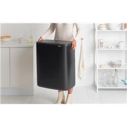 Brabantia Bo Touch Bin 2x30 ltr - mat zwart