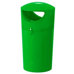 Afvalbak Metro Hooded 100 ltr - lime