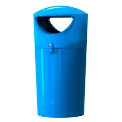 Afvalbak Metro Hooded 100 ltr - blauw