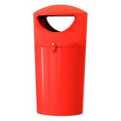 Afvalbak Metro Hooded 100 ltr - rood