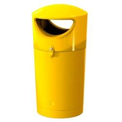 Afvalbak Metro Hooded 100 ltr - geel