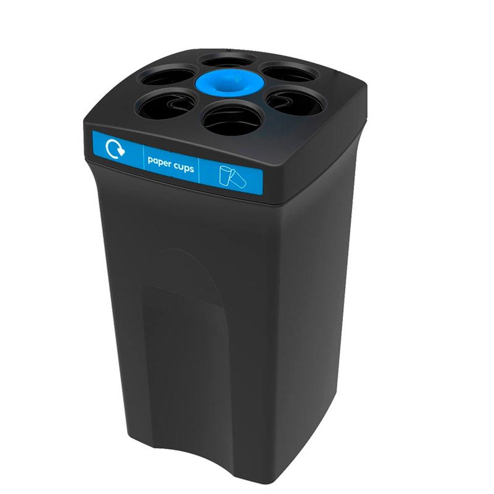 Bekerbak EnvirocupXL paper cups zwart - blauw