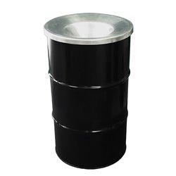 The BinBin afvalbak met vlamvertragend deksel 120 ltr - zwart