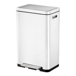 EKO X-Cube pedaalemmer 30 ltr - wit/mat RVS