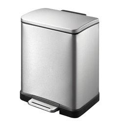 EKO E-Cube pedaalemmer 12 ltr - mat RVS