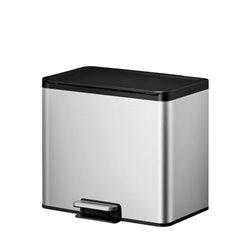 EKO Essential Recycler pedaalemmer 15+15 ltr - mat RVS