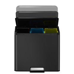 EKO Essential Recycler pedaalemmer 9+9+9 ltr - zwart
