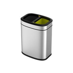 EKO afvalbak OLI-Cube Open Top Bin 10+10 ltr - mat RVS